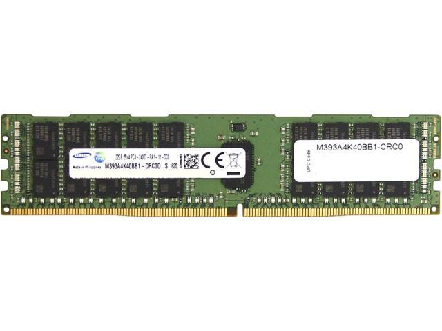 SAMSUNG 32GB 288-Pin DDR4 SDRAM Registered DDR4 2400 (PC4 19200) Memory (Server Memory) Model M393A4K40BB1-CRC
