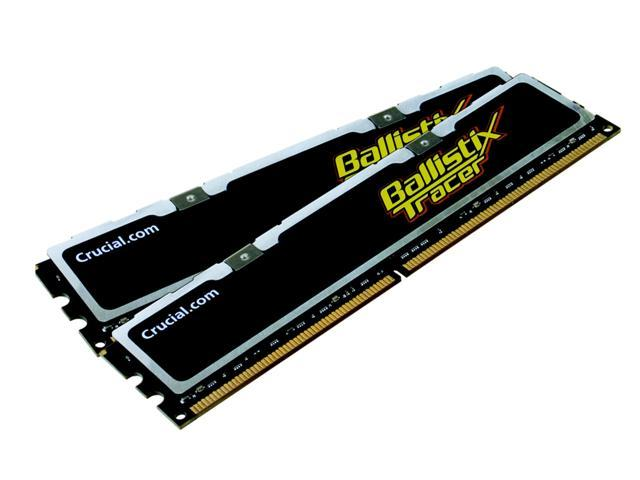 Crucial Ballistix 2GB (2 x 1GB) 240-Pin DDR2 SDRAM DDR2 1000 (PC2 8000) Dual Channel Kit Desktop Memory Model BL2KIT12864AL1005