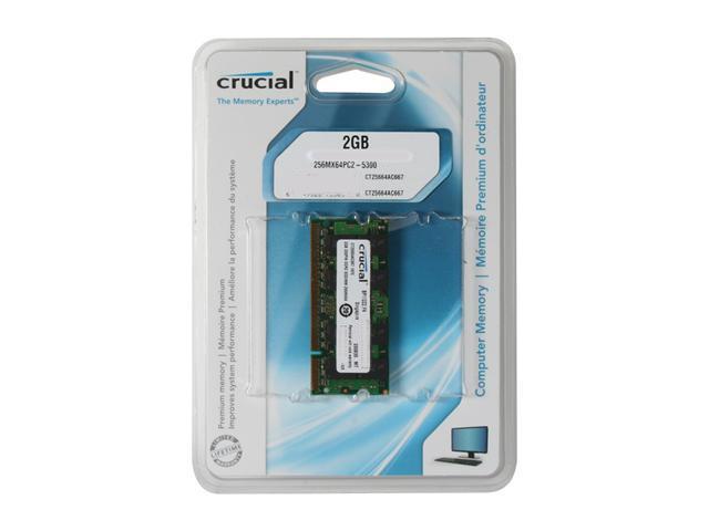 Crucial 2GB 200-Pin DDR2 SO-DIMM DDR2 667 (PC2 5300) Laptop Memory Model CT25664AC667