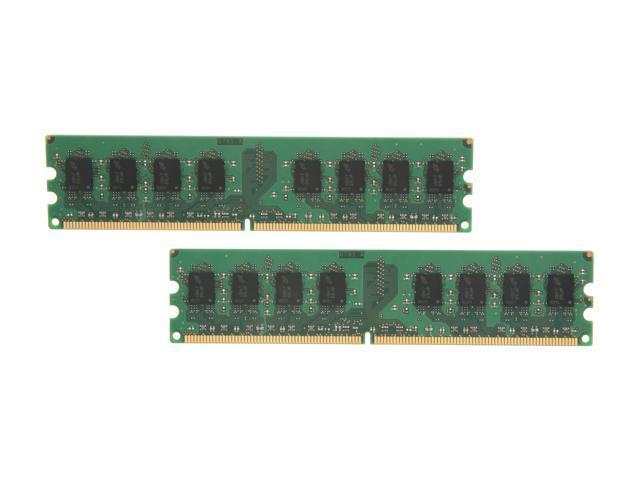 Crucial 4GB (2 x 2GB) 240-Pin DDR2 SDRAM DDR2 800 (PC2 6400) Dual Channel Kit Desktop Memory Model CT2KIT25664AA800
