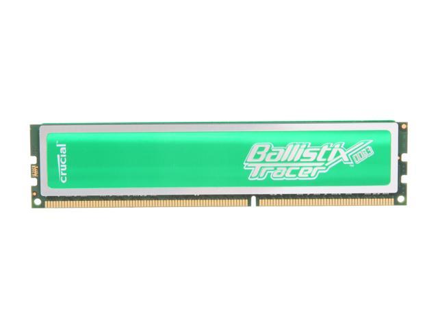 Crucial Ballistix Tracer 2GB 240-Pin DDR3 SDRAM DDR3 1600 (PC3 12800) Desktop Memory w/ Green LEDs Model BL25664TG1608