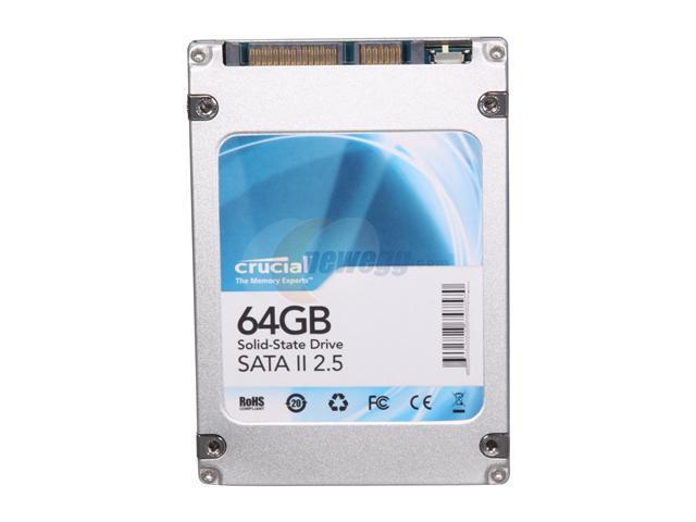 "Crucial CT64M225 2.5"" 64GB SATA II MLC Internal Solid State Drive (SSD)"