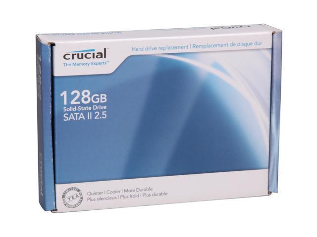 "Crucial CT128M225 2.5"" 128GB SATA II MLC Internal Solid State Drive (SSD)"