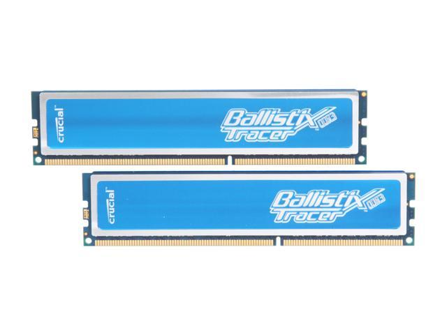 Crucial Ballistix Tracer 4GB (2 x 2GB) 240-Pin DDR3 SDRAM DDR3 1600 (PC3 12800) Desktop Memory w/ Blue LEDs Model BL2KIT25664TB1608