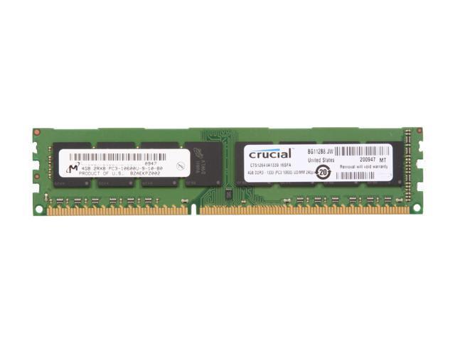 Crucial 4GB 240-Pin DDR3 SDRAM DDR3 1333 (PC3 10600) Desktop Memory Model CT51264BA1339