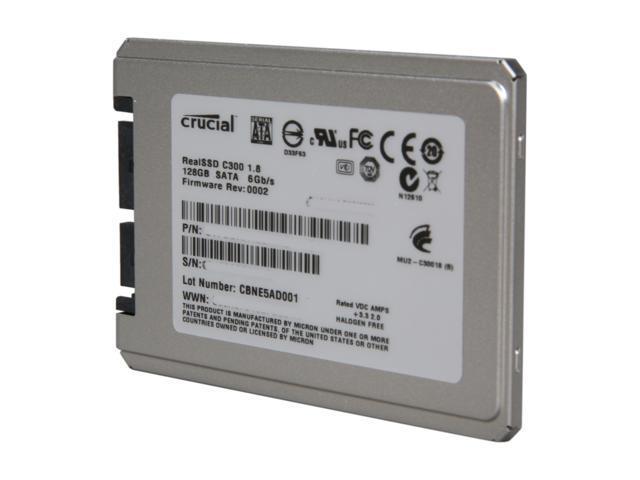 "Crucial RealSSD C300 CTFDDAA128MAG-1G1 1.8"" 128GB SATA III MLC Internal Solid State Drive (SSD)"
