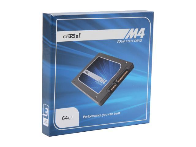 "Crucial M4 2.5"" 64GB SATA III MLC Internal Solid State Drive (SSD) CT064M4SSD2"