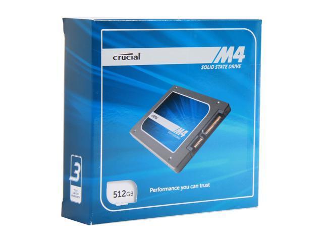 "Crucial M4 2.5"" 512GB SATA III MLC Internal Solid State Drive (SSD) CT512M4SSD2CCA"