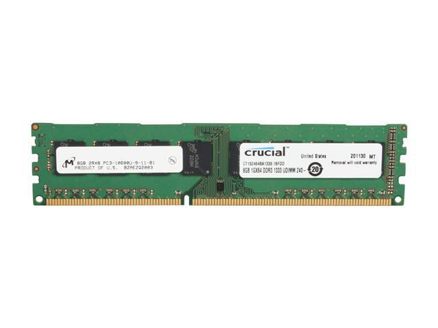 Crucial 8GB 240-Pin DDR3 SDRAM DDR3 1333 (PC3 10600) Desktop Memory Model CT102464BA1339