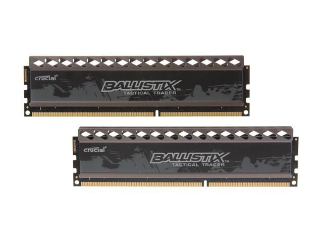 Crucial Ballistix Tactical Tracer 8GB (2 x 4GB) 240-Pin DDR3 SDRAM DDR3 1600 (PC3 12800) Desktop Memory (with Orange/Blue Light) Model ...