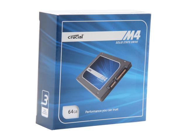 "Crucial M4 2.5"" 64GB SATA III MLC Internal Solid State Drive (SSD) CT064M4SSD2BAA"