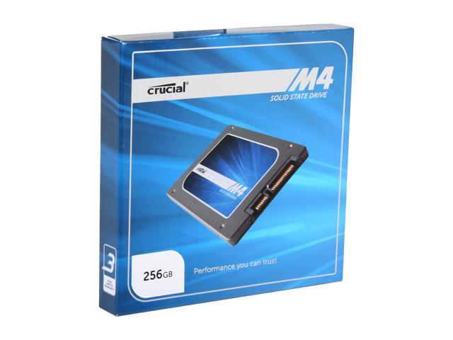 """Crucial M4 2.5"""" 256GB SATA III MLC 7mm Internal Solid State Drive (SSD) CT256M4SSD1"""