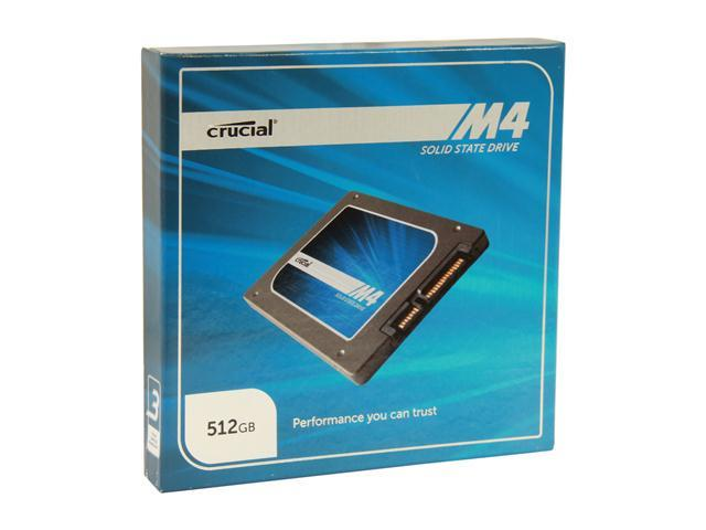 "Crucial M4 2.5"" 512GB SATA III MLC 7mm Internal Solid State Drive (SSD) CT512M4SSD1"