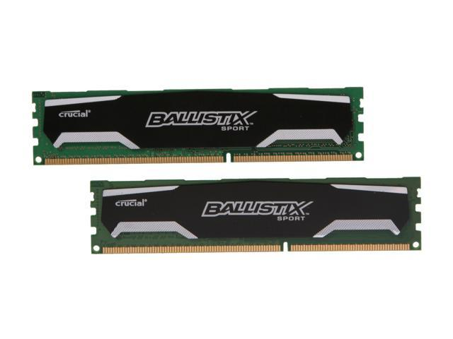 Crucial Ballistix Sport 4GB (2 x 2GB) 240-Pin DDR3 SDRAM DDR3 1600 (PC3 12800) Desktop Memory Model BLS2KIT2G3D1609DS1S00