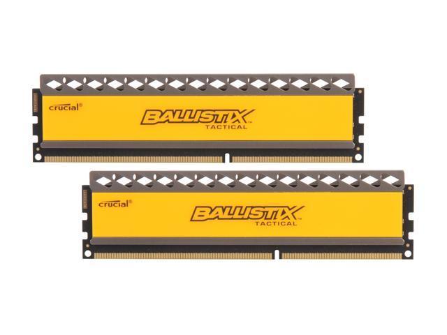 Crucial Ballistix Tactical 8GB (2 x 4GB) 240-Pin DDR3 SDRAM DDR3 1866 (PC3 14900) Desktop Memory Model BLT2KIT4G3D1869DT1TX0
