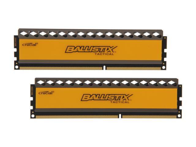 Crucial Ballistix Tactical 16GB (2 x 8GB) 240-Pin DDR3 SDRAM DDR3 1600 (PC3 12800) Desktop Memory Model BLT2KIT8G3D1608DT1TX0
