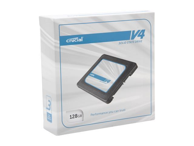 "Crucial V4 2.5"" 128GB SATA II MLC Internal Solid State Drive (SSD) with Easy Laptop Install Kit CT128V4SSD2CCA"
