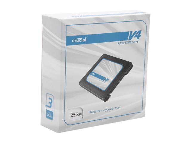 "Crucial V4 2.5"" 256GB SATA II MLC Internal Solid State Drive (SSD) with Easy Laptop Install Kit CT256V4SSD2CCA"