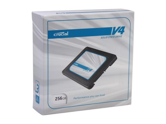 "Crucial V4 2.5"" 256GB SATA II MLC Internal Solid State Drive (SSD) with Easy Desktop Install Kit CT256V4SSD2BAA"