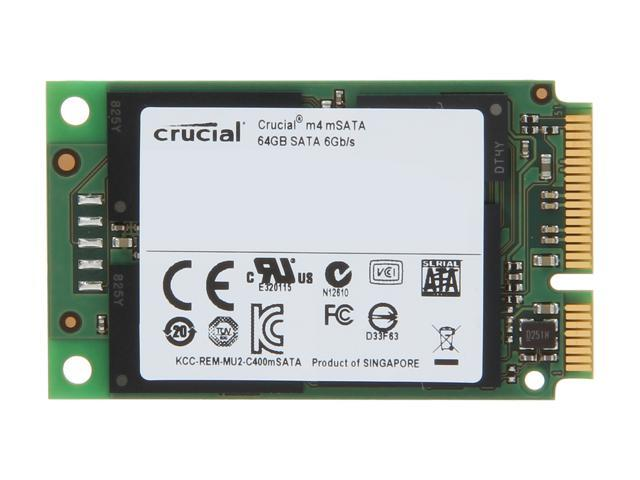 Crucial M4 64GB Mini-SATA (mSATA) MLC Internal Solid State Drive (SSD) CT064M4SSD3