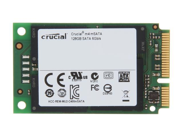 Crucial M4 128GB Mini-SATA (mSATA) MLC Internal Solid State Drive (SSD) CT128M4SSD3