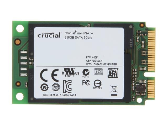 Crucial M4 256GB Mini-SATA (mSATA) MLC Internal Solid State Drive (SSD) CT256M4SSD3