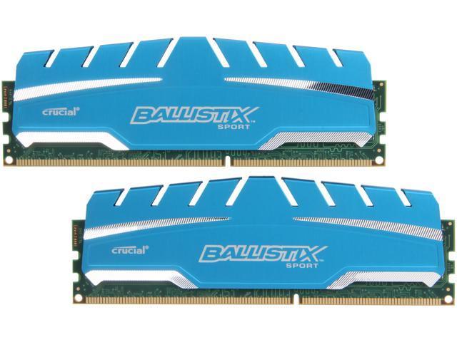 Crucial Ballistix Sport 8GB (2 x 4GB) 240-Pin DDR3 SDRAM DDR3 1600 (PC3 12800) Desktop Memory Model BLS2K4G3D169DS3
