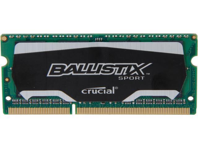 Crucial Ballistix Sport SODIMM 8GB 204-Pin DDR3 SO-DIMM DDR3L 1600 (PC3L 12800) Laptop Memory Model BLS8G3N169ES4