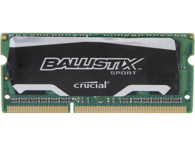 Crucial Ballistix Sport SODIMM 4GB 204-Pin DDR3 SO-DIMM DDR3L 1600 (PC3L 12800) Laptop Memory Model BLS4G3N169ES4