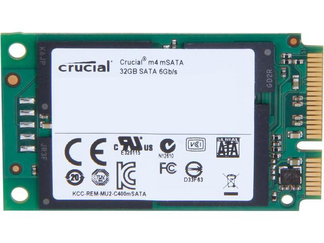 Manufacturer Recertified Crucial M4 32GB Mini-SATA (mSATA) MLC Internal Solid State Drive (SSD) CT032M4SSD3