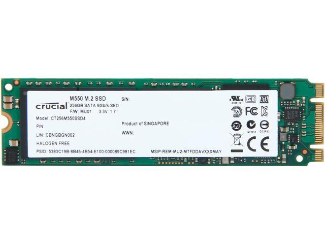 Crucial M550 M.2 Type 2280 256GB SATA 6Gb/s MLC Internal Solid State Drive (SSD) CT256M550SSD4