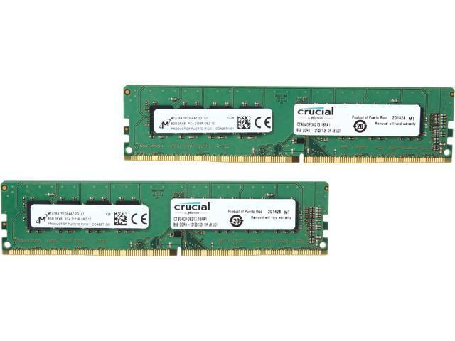 Crucial 16GB (2 x 8GB) 288-Pin DDR4 SDRAM DDR4 2133 (PC4 17000) Desktop Memory Model CT2K8G4DFD8213