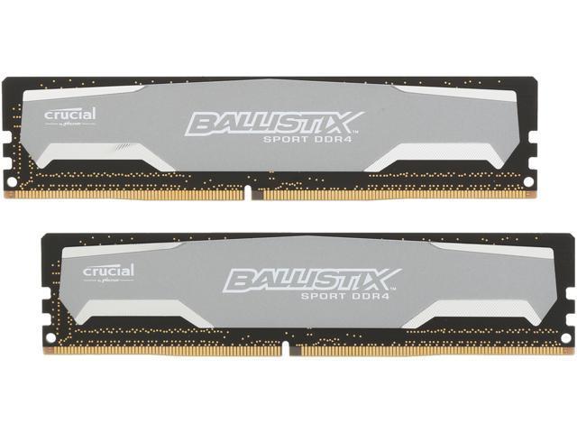Crucial Ballistix Sport 8GB (2 x 4GB) 288-Pin DDR4 SDRAM DDR4 2400 (PC4 19200) Desktop Memory Model BLS2K4G4D240FSA