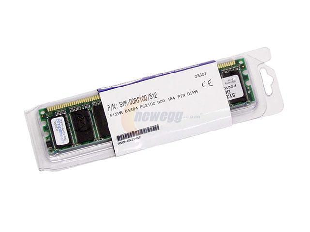 SimpleTech 512MB 184-Pin DDR SDRAM DDR 266 (PC 2100) System Memory Model SVMDDR2100/512