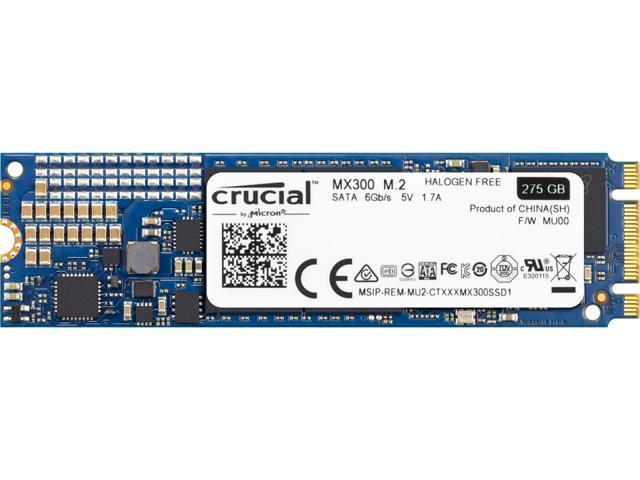 Crucial MX300 M.2 2280 275GB SATA III TLC Internal Solid State Drive (SSD) CT275MX300SSD4