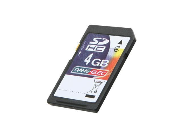 DANE-ELEC 4GB Secure Digital High-Capacity (SDHC) Flash Card Model DA-SD-4096-R