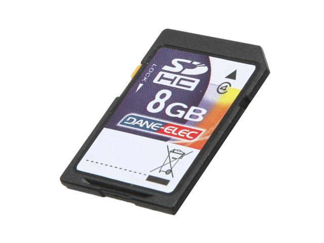 DANE-ELEC 8GB Secure Digital High-Capacity (SDHC) Flash Card Model DA-SD-8192-R