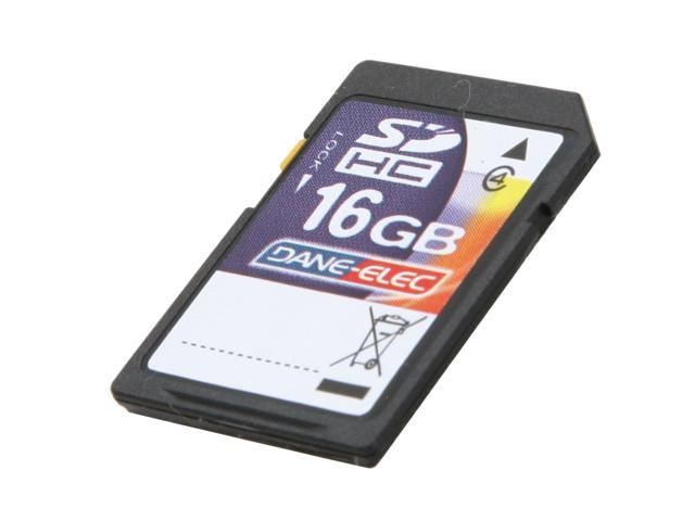 DANE-ELEC 16GB Secure Digital High-Capacity (SDHC) Flash Card Model DA-SD-16GB-R