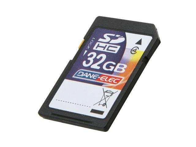 DANE-ELEC 32GB Secure Digital High-Capacity (SDHC) Flash Card Model DA-SD-32GB-R