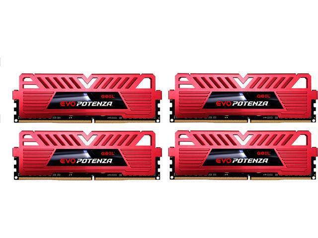 GeIL EVO POTENZA 16GB (4 x 4GB) 288-Pin DDR4 SDRAM DDR4 3000 (PC4 24000) Gaming Memory Model GPR416GB3000C15AQC