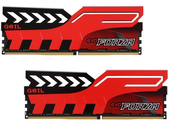 GeIL EVO FORZA DC 16GB (2 x 8GB) 288-Pin DDR4 SDRAM DDR4 3000 (PC4 24000) Memory (Desktop Memory) Model GFR416GB3000C15ADC