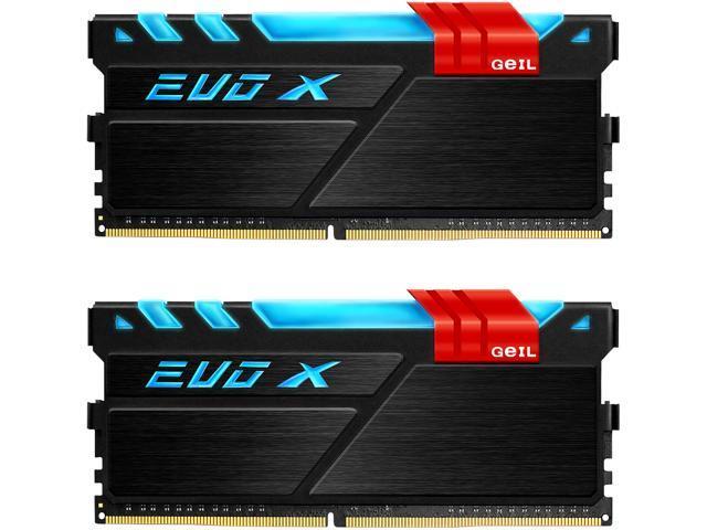 GeIL EVO X 16GB (2 x 8GB) 288-Pin DDR4 SDRAM DDR4 3000 (PC4 24000) Desktop Memory Model GEX416GB3000C15ADC