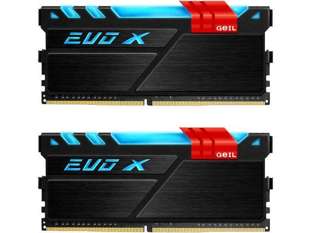 GeIL EVO X 8GB (2 x 4GB) 288-Pin DDR4 SDRAM DDR4 3200 (PC4 25600) Desktop Memory Model GEX48GB3200C16DC