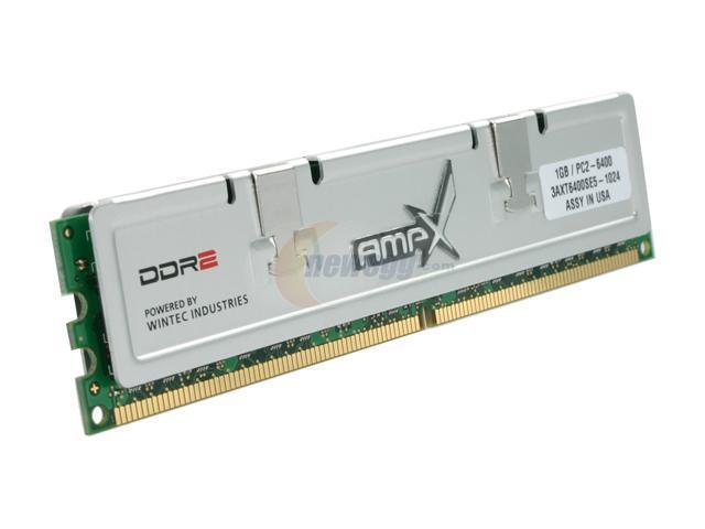 Wintec AMPX 1GB 240-Pin DDR2 SDRAM DDR2 800 (PC2 6400) Desktop Memory Model 3AXT6400SE5-1024