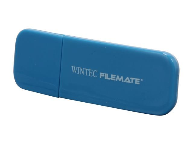 Wintec FileMate Contour 4GB USB 2.0 Flash Drive (Blue)