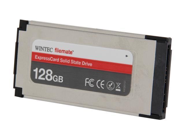 Wintec FileMate ExpressCard 34 128GB ExpressCard MLC Internal / External Solid State Drive (SSD) 3FMS4E128JM-R
