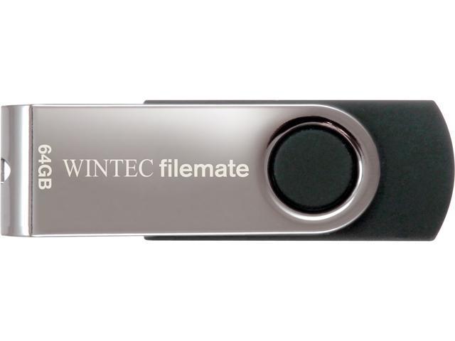 Wintec FileMate Swivel 64GB USB Flash Drive Model 3FMUSB64GWB-R