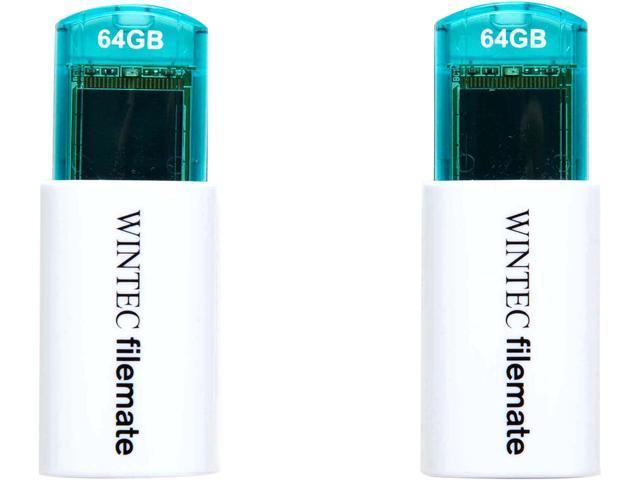 Wintec 64GB FileMate Mini Plus USB Flash Drives (Two-Pack) (3FMUSB64GMPBL-X2)