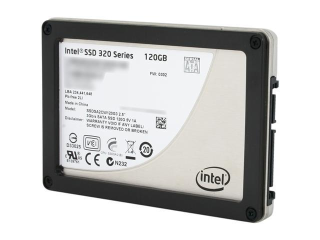 """Intel 320 Series 2.5"""" 120GB SATA II MLC Internal Solid State Drive (SSD) SSDSA2CW120G310  - OEM"""