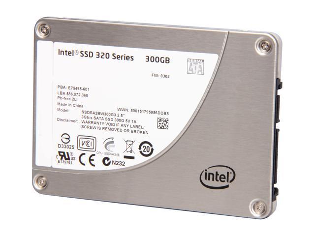 """Intel 320 Series 2.5"""" 300GB SATA II MLC Internal Solid State Drive (SSD) SSDSA2BW300G301 - OEM"""